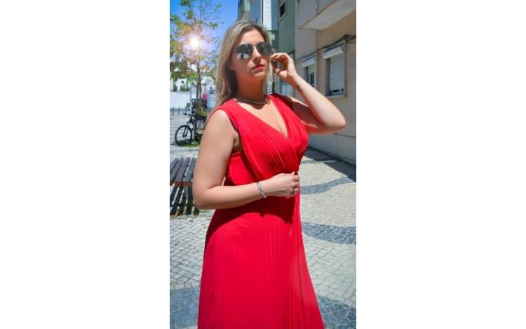 Vestido vermelho!