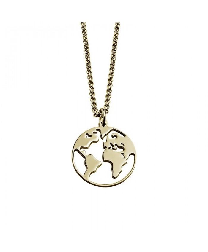 Fio Mapa Mundo Dourado