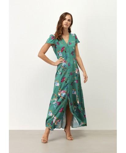 Vestido com Estampa em Flores