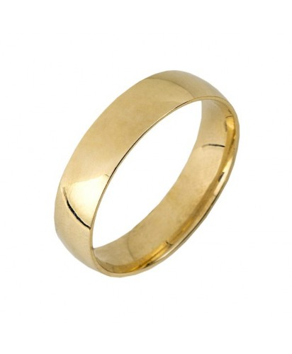 Aliança em Ouro Amarelo 5MM