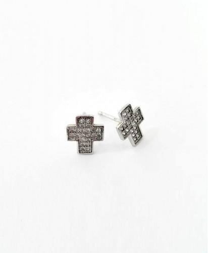 Brincos Cruz Pedras