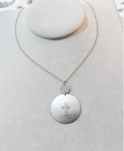 Fio Prata Medalha Cruz