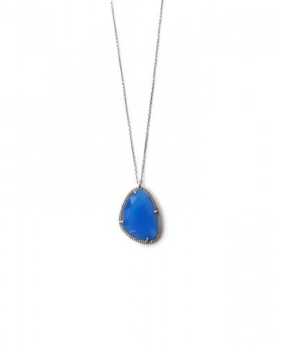 Fio Prata Pedra Azul
