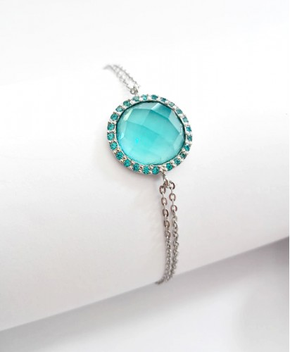 Pulseira C/Pedra Azul