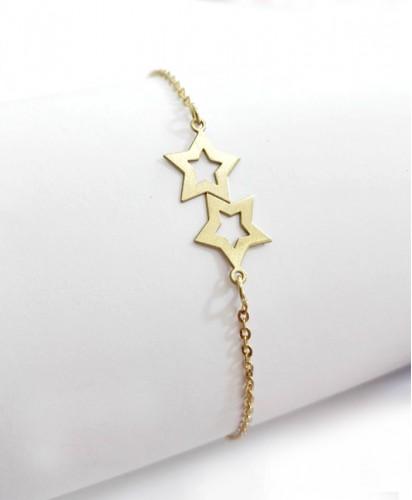 Pulseira Dourada C/Estrelas
